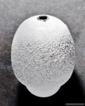 Egg shape vase.