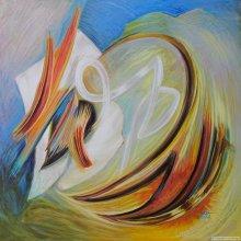 """Acrylic on canvas, 24""""x24"""" - 2010."""