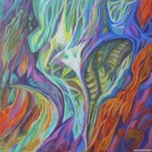 """Acrylic on canvas, 17""""x17"""" with frame - 2010."""