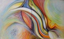 "Acrylic on canvas, 30""x48"", Dyptich - 2010."