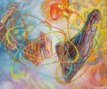 """Acrylic on canvas, 20""""/24"""" - 2010."""