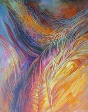"""Acrylic on canvas, 28""""/22"""" - 2010."""