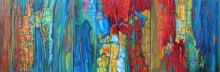 "Acrylic on canvas, 20""x 60"", Triptych - 2010."